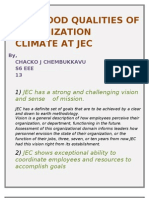 5 Good Qualities of Organization Climate at Jec