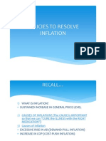Policies to Resolve Inflation