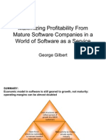 Restructuring Mature Software Companies To Maximize Profitability