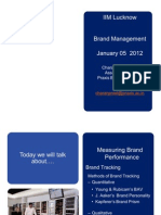 IIM Lucknow - Brand Management - January 05, 2012