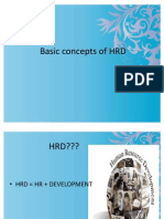 Basic Concepts of HRD