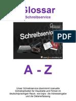 Glossar Schreibservice a-Z