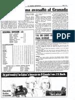 Osasuna-Granada (5-0), 17 Diciembre 79.