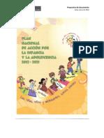 Plan Nacional de Acción por la Infancia y la Adolescencia 2012 - 2021