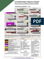 FANESE Calendario Academico-2012