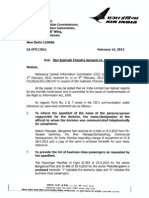 Air India Compliance Report on Praful Patel
