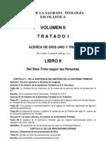 Teología Vol II Tratado I Libro II Trinidad - En Cuanto a las personas