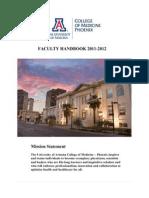 ua college of medicine-phoenix faculty handbook  2011-2012 december 10