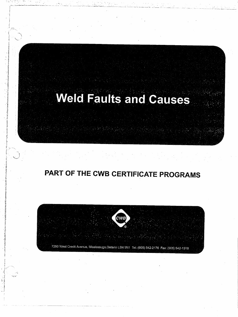 Complete penetration welds cwb
