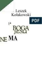 Jesli Boga Nie Ma - Leszek Kołakowski