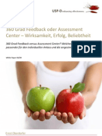 USP-D 360 Feedback versus Assessment Center