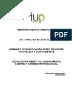 DEGRADACIÓN AMBIENTAL, ENDEUDAMIENTO EXTERNO Y COMERCIO INTERNACIONAL.