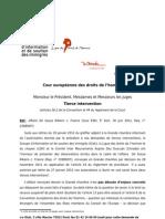 ECHR : De Souza Ribeiro c. France : Brief amicus curiae