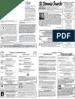 Feb 19 Bulletin