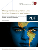 USP-D Management Development in Latin America