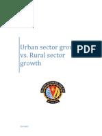 Rural vs Urban Growth