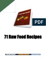 71 Raw Food Recipes