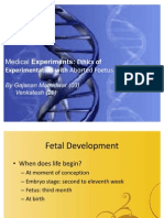 Ethics of Experimentation With Aborted Foetus