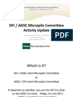 DFI-ADSC Micropile Committee Update from 2010 ISM IWM