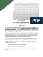 Job Analysis Question Air