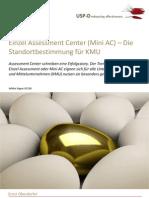 USP-D Einzel Assessment Center (Mini AC) – Die Standortbestimmung für KMU