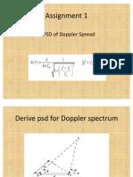Derive Psd for Doppler Spectrum
