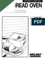 Welbilt ABM 600 Bread Machine Manual