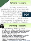 Defining Heroes