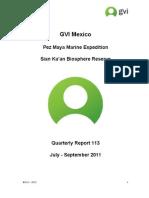 GVI Mexico Quarterly report Pez Maya July-September 2011