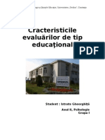 Evaluarea in Invatamantul Primar 2003