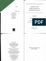 09 - Bello, Andres - Allocution Ode, Intro, Araucana