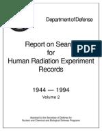 DoD - Human Experiments on Radiation