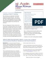 NWARW Newsletter February 2012