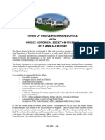 Greece Historical Society 2011 Annual Report