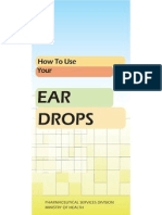 Pamphlet Ear Drops