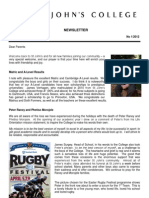 Newsletter 1 Easter Term 2012