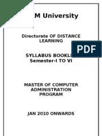 Mca Syllabus Final