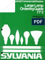 Sylvania 1977 Large Lamp Ordering Guide