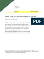 Gender, Asset and Agricultural Development