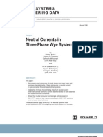 Neutral Currents in 3 Phase Wye Systems