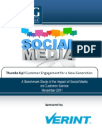 Impact on Social Media to Customer Service
