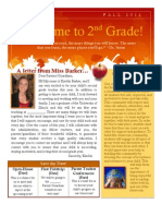 Beginning of the Year Classroom Newsletter