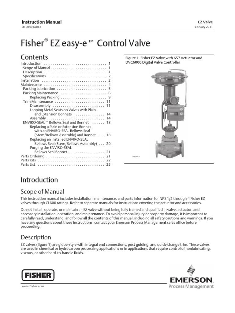 Fisher EZ Control ValveInstruction Manual Valve – Ez Valve Wiring Diagram