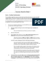 OpSys 2011 Sem1 Week01 Exercise Sheet