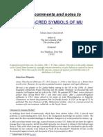 The Sacred Symbols of Mu - Churchward - 1933 - Notes