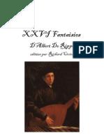 Twenty-Six Fantasias for Lute by Albert de Rippe