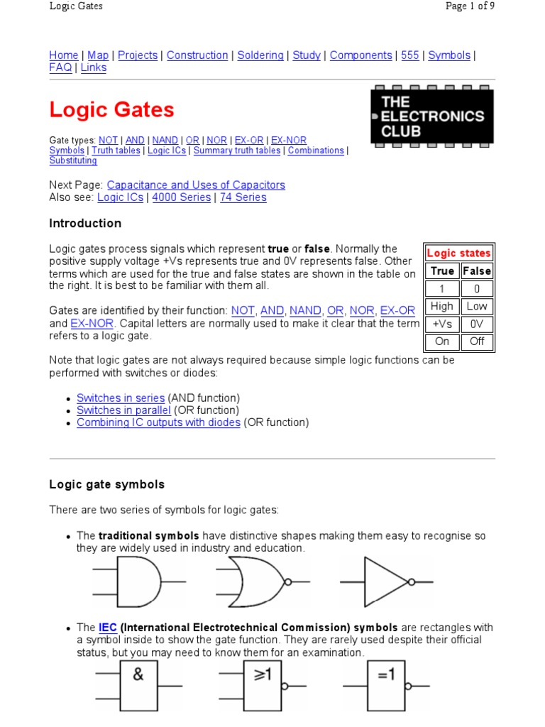 Logic Gates Logic Gate Electronics