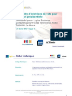 Rapport complet Baromètre Intention de vote Vague10
