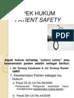 Aspek Hukum Patient Safety