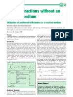 Perfluorotriethylamine as Green Solv